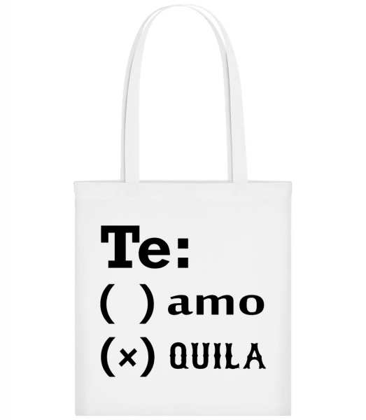Te Amo Tequila - Carrier Bag - White - Vorn