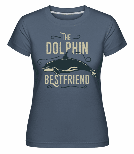 Best Friend Dolphin -  Shirtinator Women's T-Shirt - Denim - Vorn
