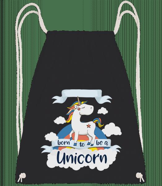 Born to Be A Unicorn - Turnbeutel - Schwarz - Vorn