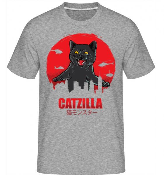 Catzilla -  Shirtinator Men's T-Shirt - Heather grey - Front