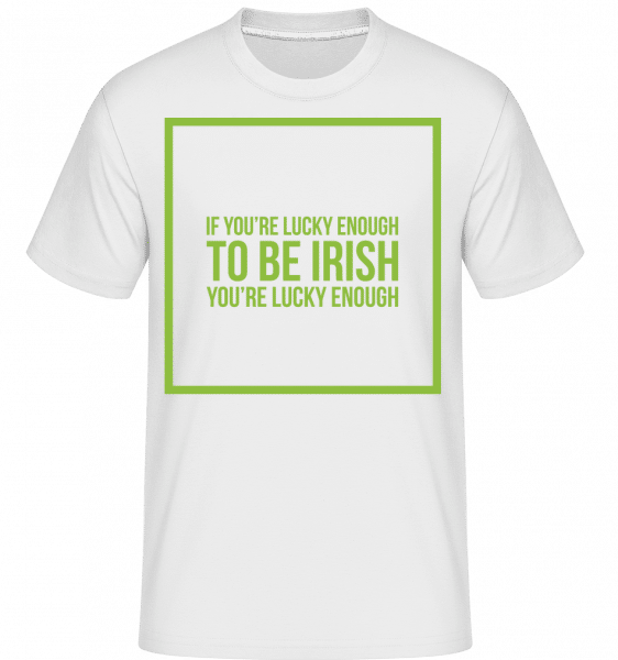 Be Irish Logo -  Shirtinator Men's T-Shirt - White - Vorn