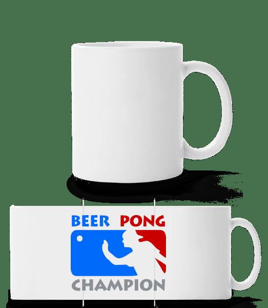 Beer Pong Champion - Panorama Mug - White - Vorn