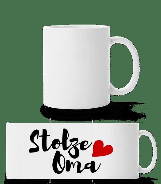 Stolze Oma - Panoramatasse - Weiß - Vorn