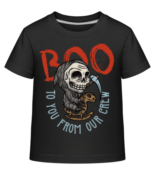 Boo - Kid's Shirtinator T-Shirt - Black - Front