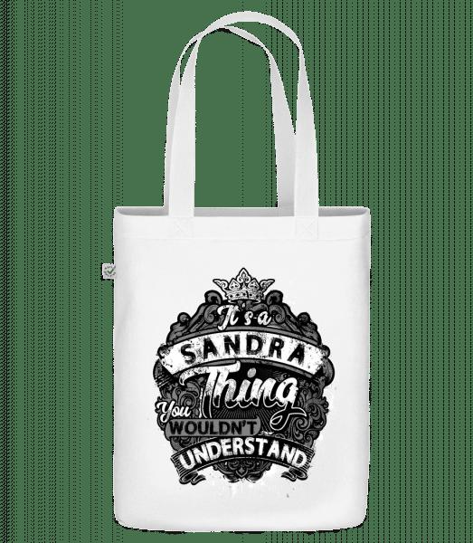It's A Sandra Thing - Bio Tasche - Weiß - Vorn