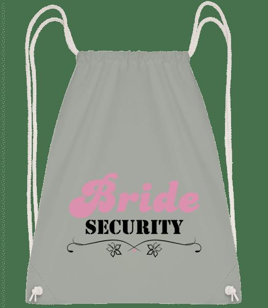 Bride Security - Drawstring batoh se šňůrkami - Antracit - Napřed