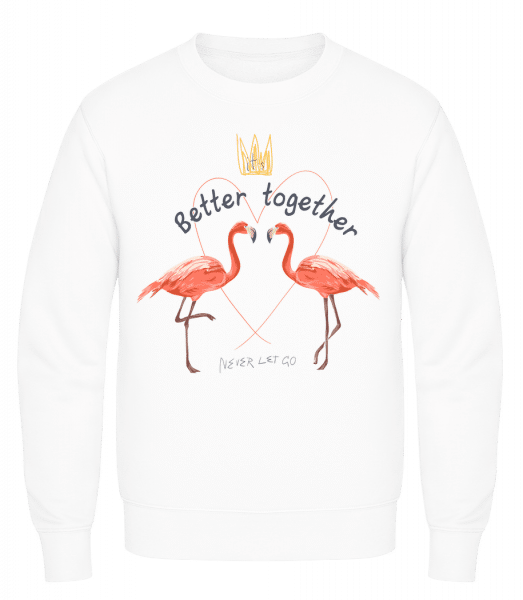 Better Together Flamingos - Men's Sweatshirt AWDis - White - Vorn