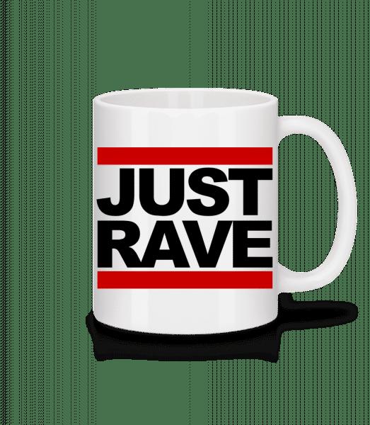 Just Rave Logo - Tasse - Weiß - Vorn