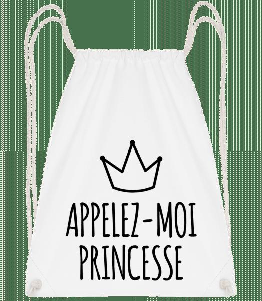 Appelez-Moi Princesse - Sac à dos Drawstring - Blanc - Vorn