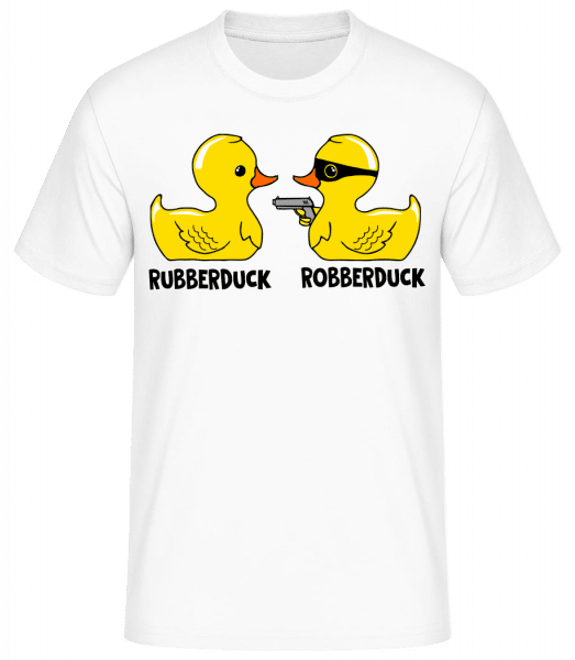 Robberduck - Men's Basic T-Shirt - White - Front