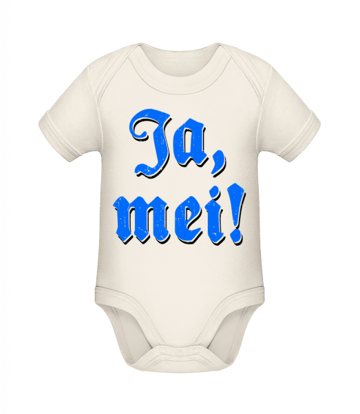 Ja, Mei! - Baby Bio Strampler - Creme - Vorn