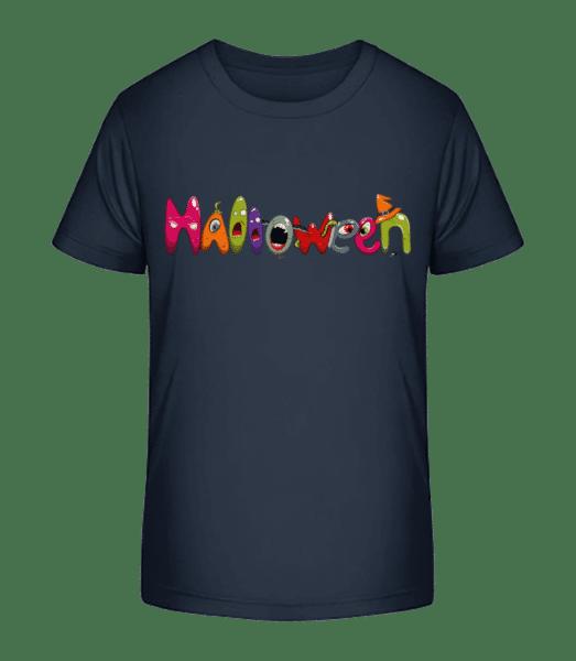 předvečer Všech svatých - Detské Premium Bio tričko - Namořnická modrá - Napřed