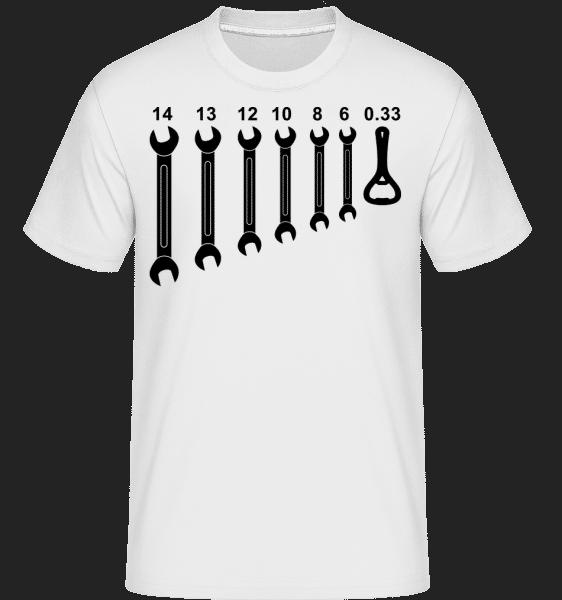 Werkzeug Bieröffner - Shirtinator Männer T-Shirt - Weiß - Vorn
