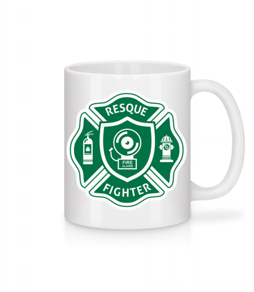 Resque Fighter - Mug - White - Front