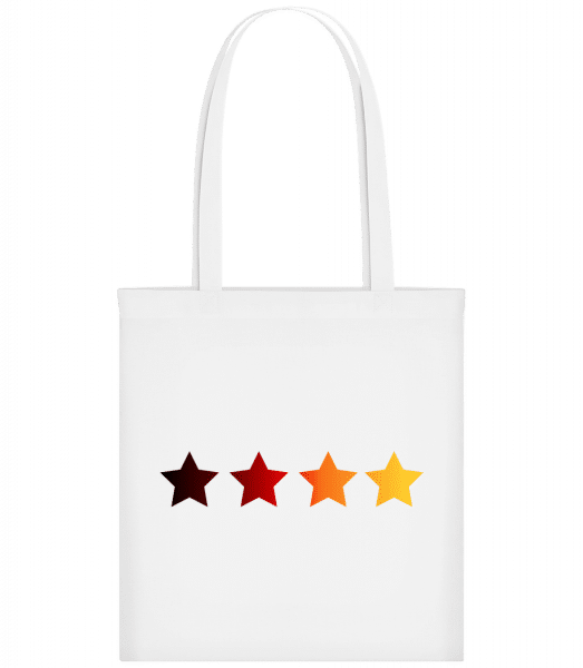German Flag Stars - Carrier Bag - White - Vorn