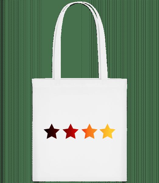 Sterne Deutsche Fahne - Stoffbeutel - Weiß - Vorn