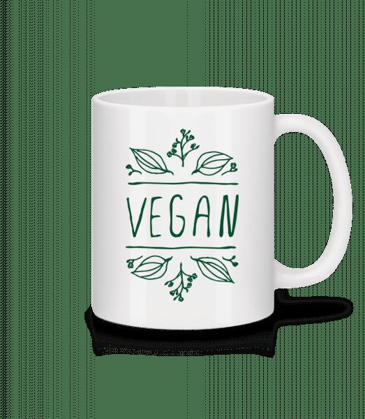 Vegan Sign - Mug - White - Vorn