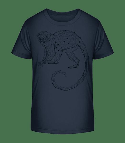 Polygon Affe - Kinder Premium Bio T-Shirt - Marine - Vorn