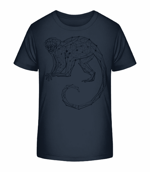 Polygon Monkey - Kid's Premium Bio T-Shirt - Navy - Front