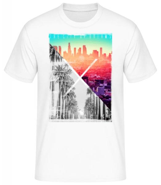 Los Angeles Dream - Men's Basic T-Shirt - White - Front