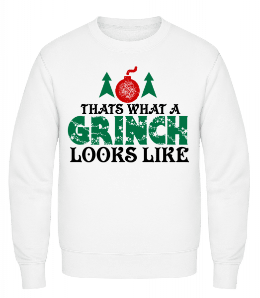 What A Grinch Looks Like - Men's Sweatshirt - White - Vorn