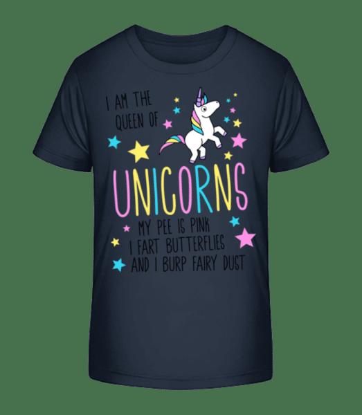 I'm The Queen Of Unicorns - Kid's Premium Bio T-Shirt - Navy - Vorn