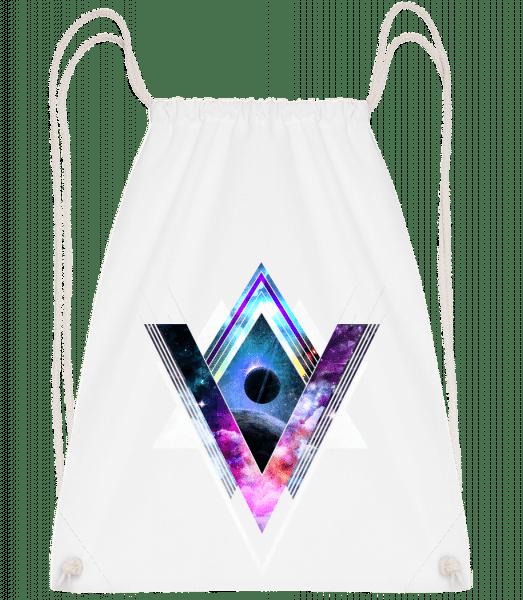 Hipster Shapes - Drawstring Backpack - White - Vorn