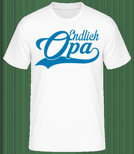 Endlich Opa - Basic T-Shirt - Weiß - Vorn