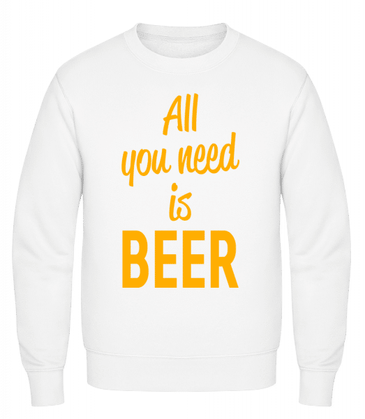 All You Need Is Beer - Classic Set-In Sweatshirt - White - Vorn