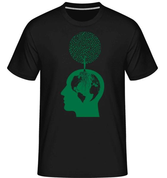 Nature And Environment Head -  Shirtinator Men's T-Shirt - Black - Front