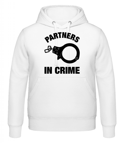 Partners In Crime - Hoodie - White - Vorn