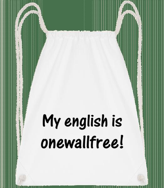 Onewallfree English - Turnbeutel - Weiß - Vorn