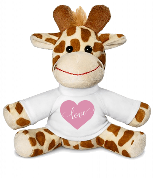 Love - Giraffe - White - Vorn