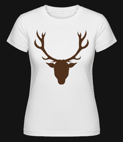 Deer - Brown -  Shirtinator Women's T-Shirt - White - Vorn
