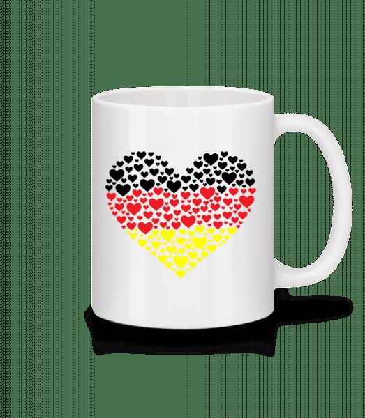 Hearts Německo - Keramický hrnek - Bílá - Napřed