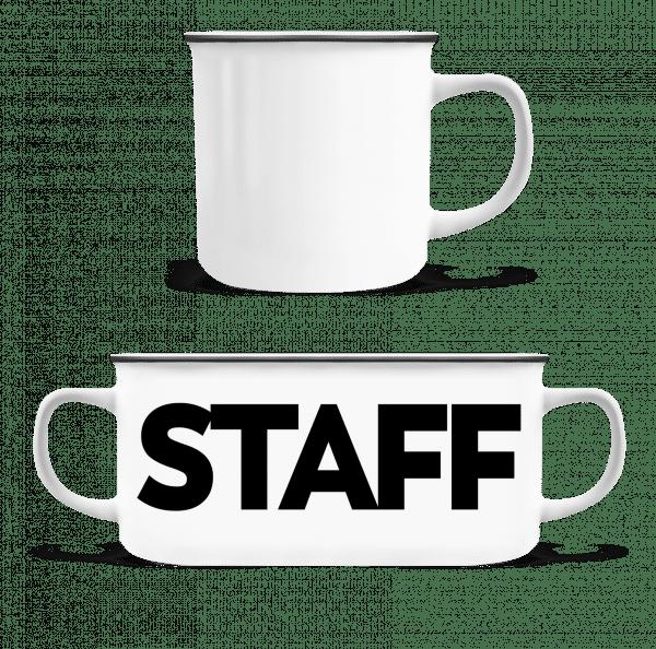 Staff - Enamel-cup - White - Vorn
