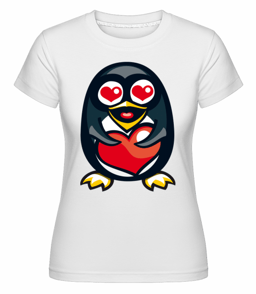 Love Penguin -  Shirtinator Women's T-Shirt - White - Vorn