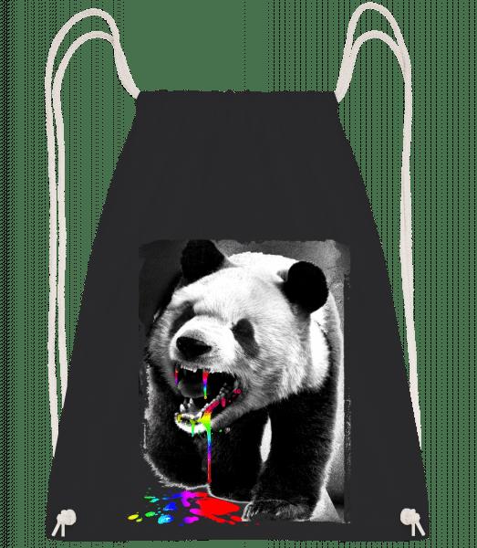 Panda Hat Einhorn Gefressen - Turnbeutel - Schwarz - Vorn