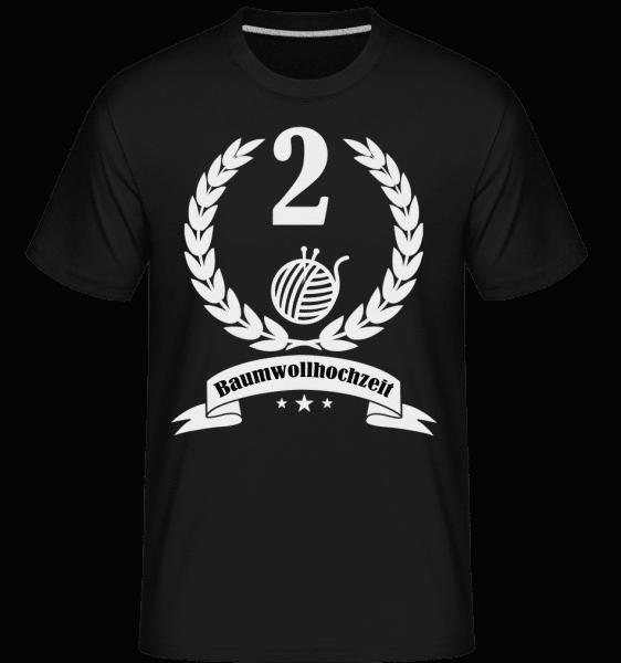 Baumwollhochzeit - Shirtinator Männer T-Shirt - Schwarz - Vorn