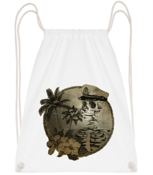 Sailors Death - Drawstring batoh so šnúrkami - Biela - Predné