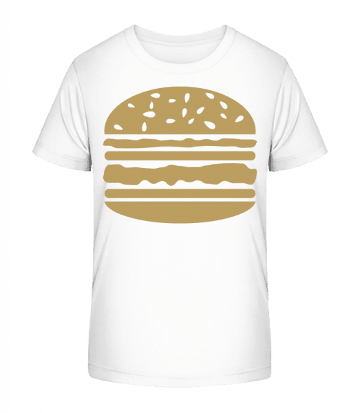 Served Burger - Kid's Premium Bio T-Shirt - White - Vorn
