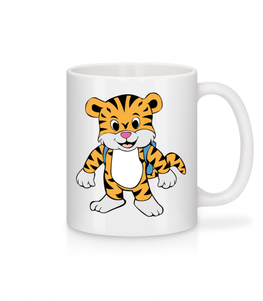 Cute Tiger With Bag - Mug - White - Vorn