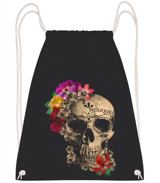 Skull Mexico - Drawstring Backpack - Black - Vorn