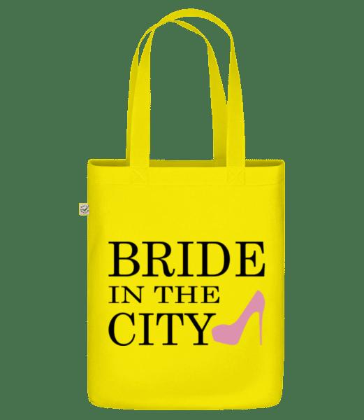 """Nevěsta In The City - Organická taška """"Earth Positive"""" - Žlutá - Napřed"""