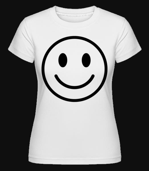 Happy Emoticon -  Shirtinator Women's T-Shirt - White - Vorn