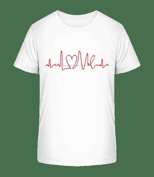 Heart Frequency - Kid's Premium Bio T-Shirt - White - Vorn