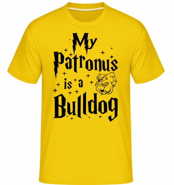 My Patronus Is A Bulldog -  Shirtinator Men's T-Shirt - Golden yellow - Vorn