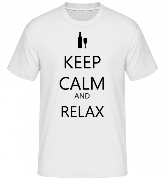 Keep Calm And Relax -  Shirtinator Men's T-Shirt - White - Vorn