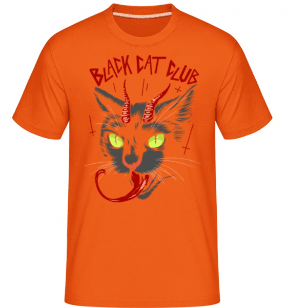 Black Cat Club -  Shirtinator Men's T-Shirt - Orange - Front