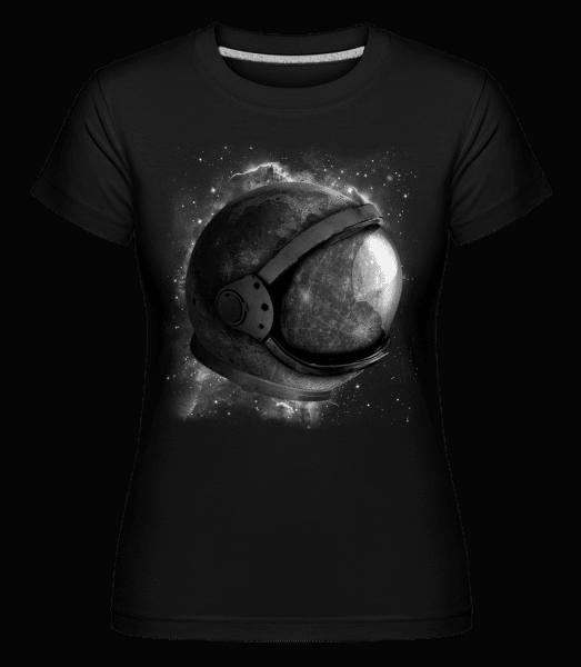 Astronautenhelm - Shirtinator Frauen T-Shirt - Schwarz - Vorn